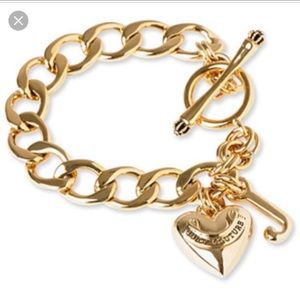 NWOB Juicy Couture Gold Charm Bracelet